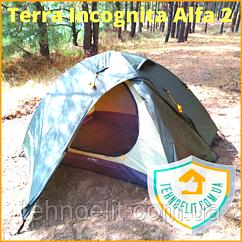 Палатка двухместная с тамбуром Terra Incognita Alfa 2