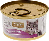 Консерва Brit Care Cat k тунец-лосось 80g    для кошек