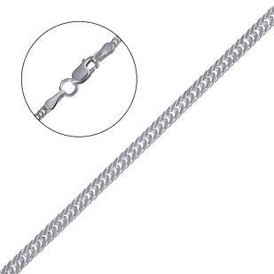 Серебряная цепочка двойной панцирь