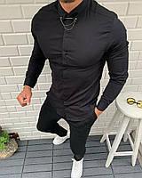 Мужская рубашка черная и белая с брошью СММ r12,r13, фото 1