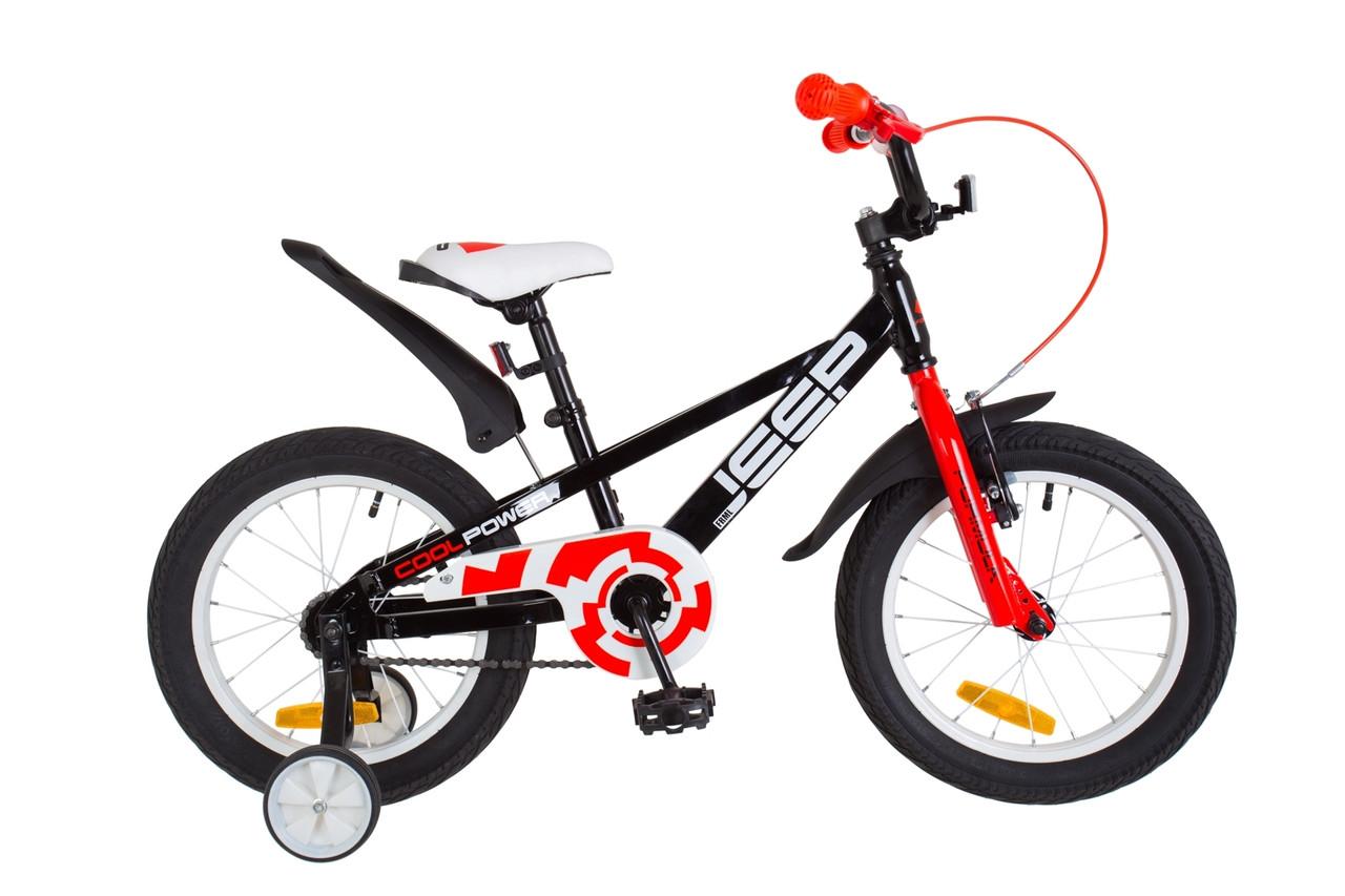 """Велосипед 16"""" Formula JEEP 14G St з крилом Pl 2018 (чорно-червоний)"""