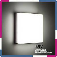 Светильник светодиодный накладной  квадрат 150х150 10Вт белый