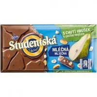 Шоколад молочный Studentska Mlecna(Груша с арахисом), 180г