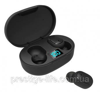 Беспроводные Bluetooth Наушники E6s Black с LED дисплеем