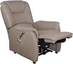 Кресло электро-реклайнер DM-01002 ткань капучино TM Bellini, фото 2
