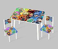 """Столик мини """"Инфинити надо"""" С 083 (60*46 см), столик + 2 стула"""