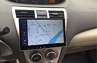 Штатная автомагнитола Toyota Vios 2008-2013 на Android с хорошей звуковой настройкой