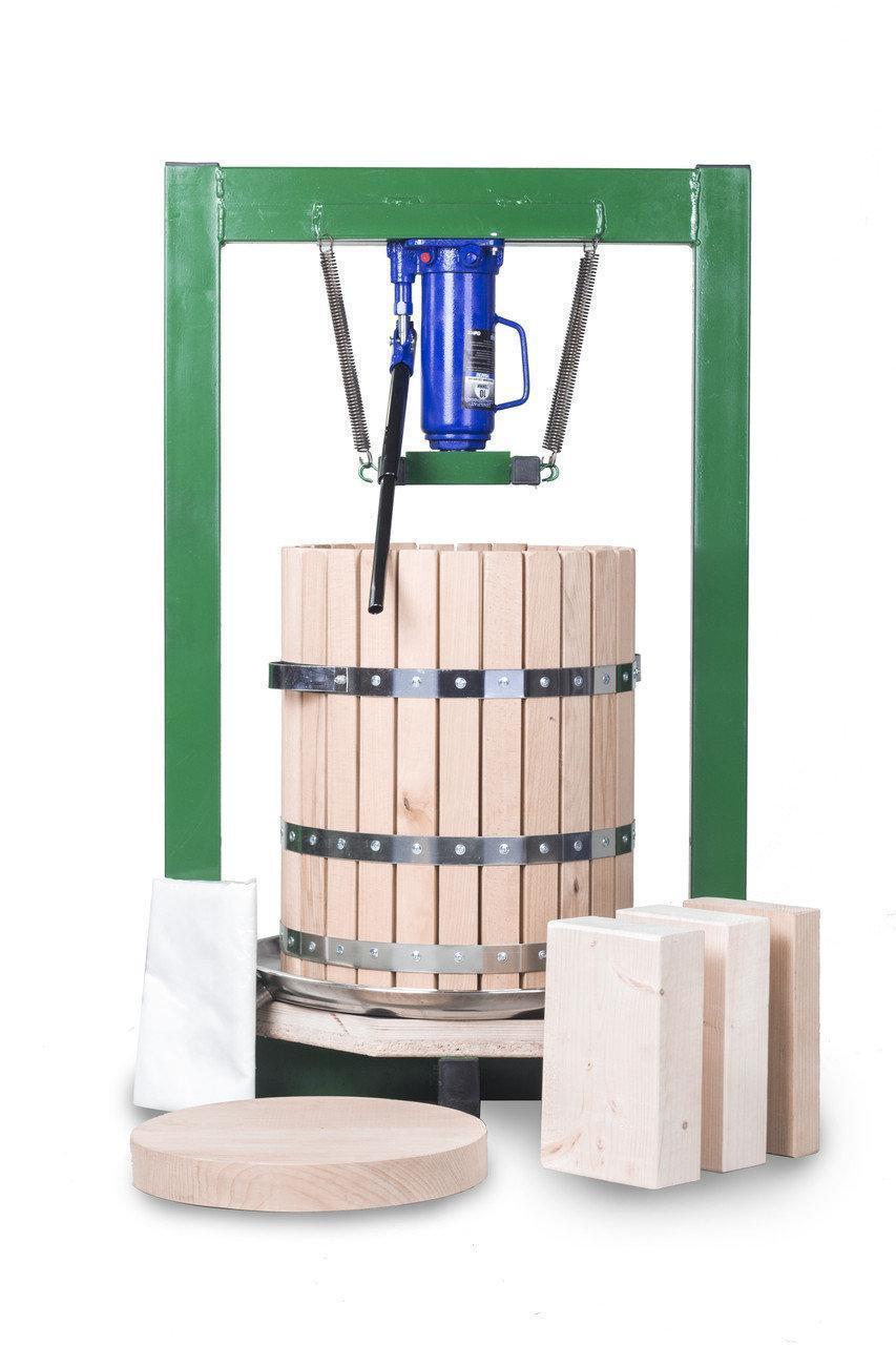 Винтовой пресс для отжима сока 50л с домкратом, давление 10 тон, гидравлический.