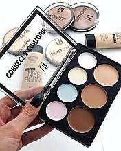 Набір для макіяжу Коректори контуринг для особи LN Professional Correct & Contour Cream Kit