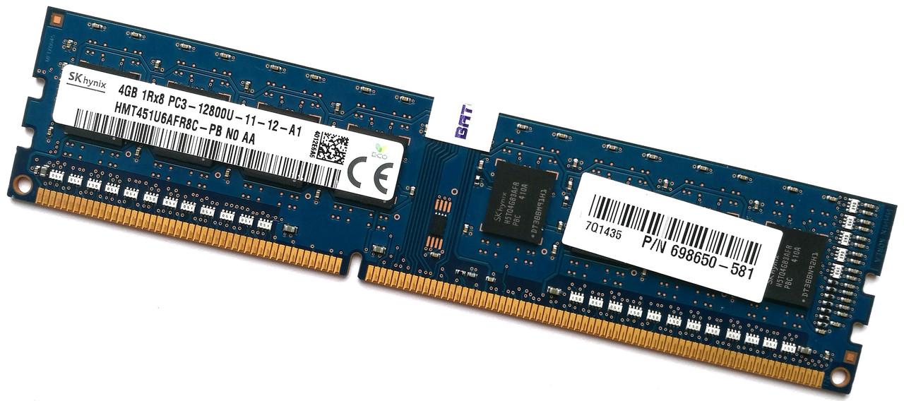 Оперативная память Hynix DDR3 4Gb 1600MHz PC3-12800 1R8 CL11 (HMT451U6AFR8C-PB N0 AA) Б/У