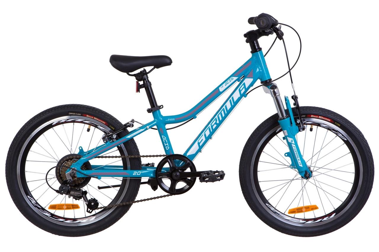 """Велосипед 20"""" Formula ACID 1.0 AM 14G Vbr Al 2019 (аквамарин)"""