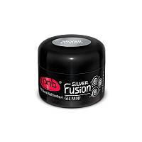 PNB Silver Fusion Gel Paint - гель краска серебристая, 5 мл