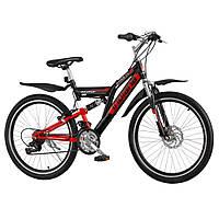 Велосипед подростковый INDIANA X-Rock 1.4 black-red, фото 1