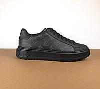 Мужские кожаные кеды Louis Vuitton (Луи Виттон) арт. 39-03, фото 1