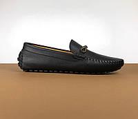 Мокасины Louis Vuitton черные (Луи Виттон) арт. 39-25, фото 1