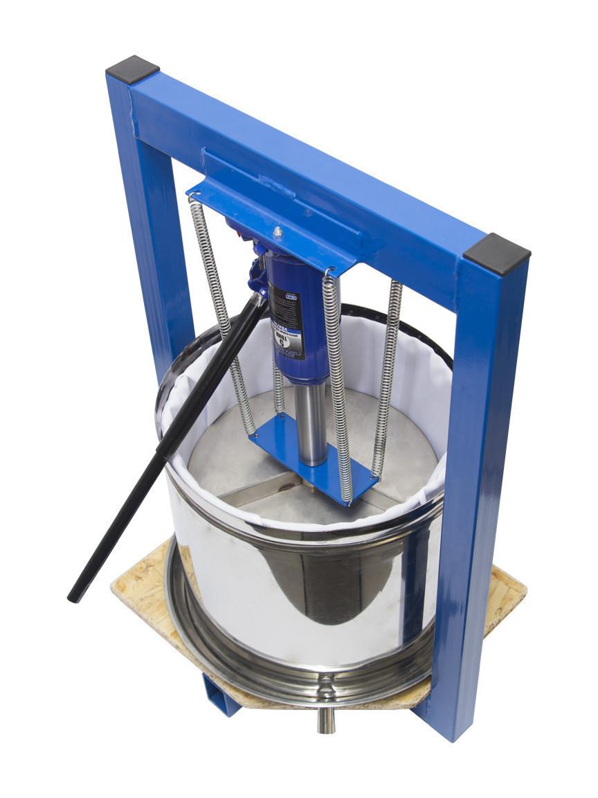 Пресс для яблок 25л с домкратом, давление 5 тон, гидравлический. Для яблок, винограда, сыра и тд.