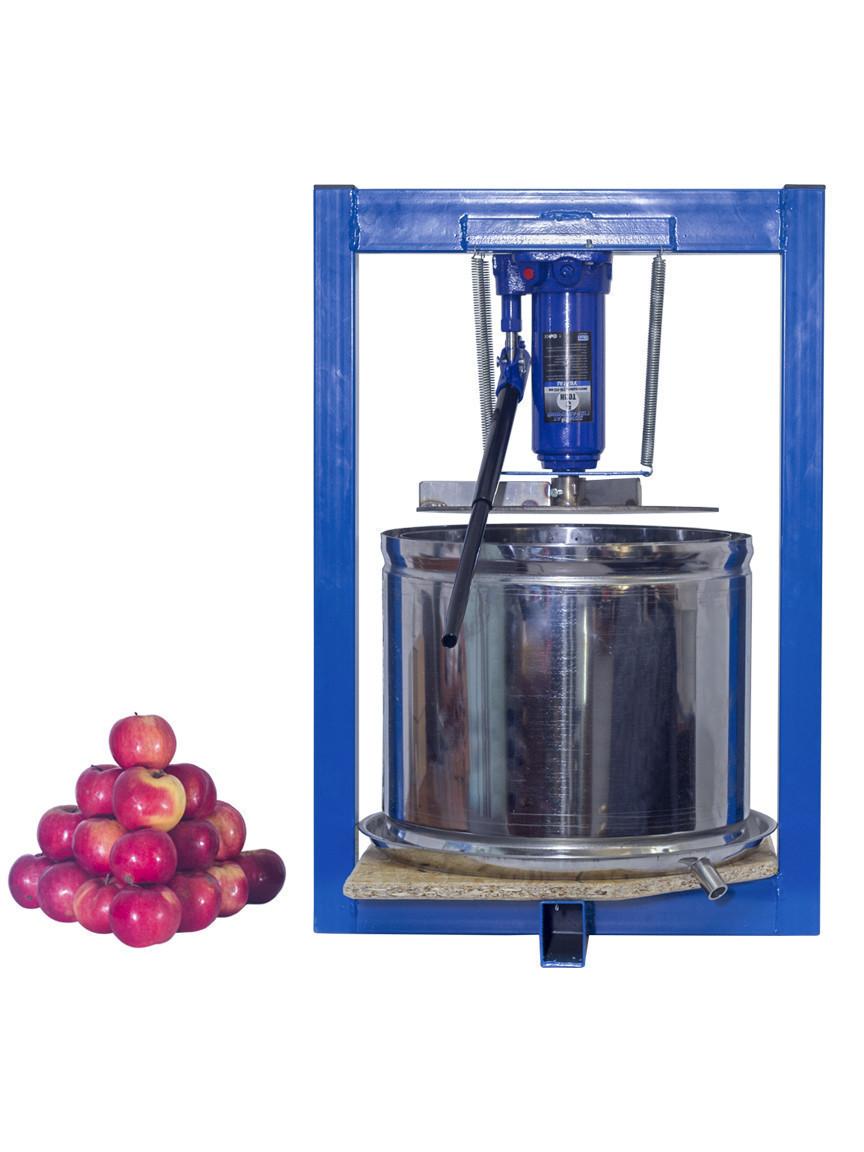 Ручная соковыжималка для яблок 25л с домкратом, давление 5 тон, гидравлический. Для яблок, винограда, сыра.