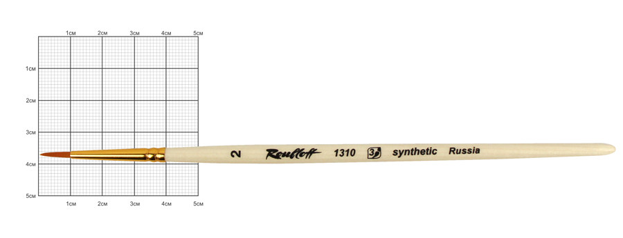 Кисть синтетика круглая № 2 Roubloff 1310, 786805