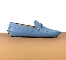 Мокасины Louis Vuitton голубые (Луи Виттон) арт. 39-22