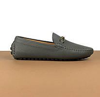 Мокасины мужские Louis Vuitton серые (Луи Виттон) арт. 39-24