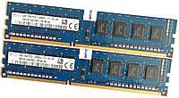 Пара оперативной памяти Hynix DDR3 8Gb (4Gb+4Gb) 1600MHz PC3 12800U 1R8 CL11 (HMT451U6AFR8C-PB N0 AA) Б/У, фото 1