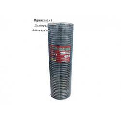 Сетка сварная оцинкованная 25,4х12,7 Ø2,0 высота 1м длина 15м
