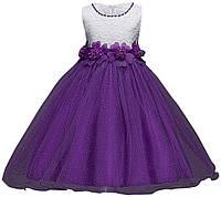 Праздничное платье на девочку фиолетовое на 5-8 лет