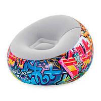 Надувное кресло Bestway 75075 112 x 112 x 66 см яркий дизайн граффити