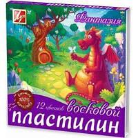 Пластилин восковый Луч Фантазия 25С1523-08, 12 цветов, стек