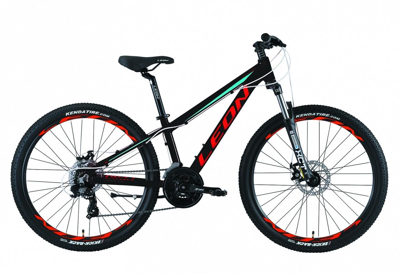 """Велосипед 26"""" Leon SUPER JUNIOR AM 14G DD Al 2019 (черно-красный с синим)"""