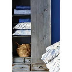 Постельное белье Karaca Home - Felinda mavi 2019-2 голубой пике 160*230 полуторный