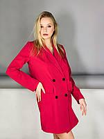 Платье-пиджак розовое, фото 1