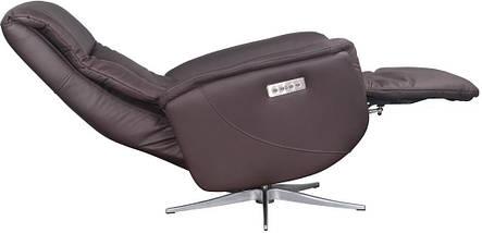 Кресло электро-реклайнер DM-01005 ткань темно-коричневый TM Bellini, фото 2