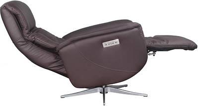 Кресло электро-реклайнер DM-01005 ткань темно-коричневый TM Bellini, фото 3