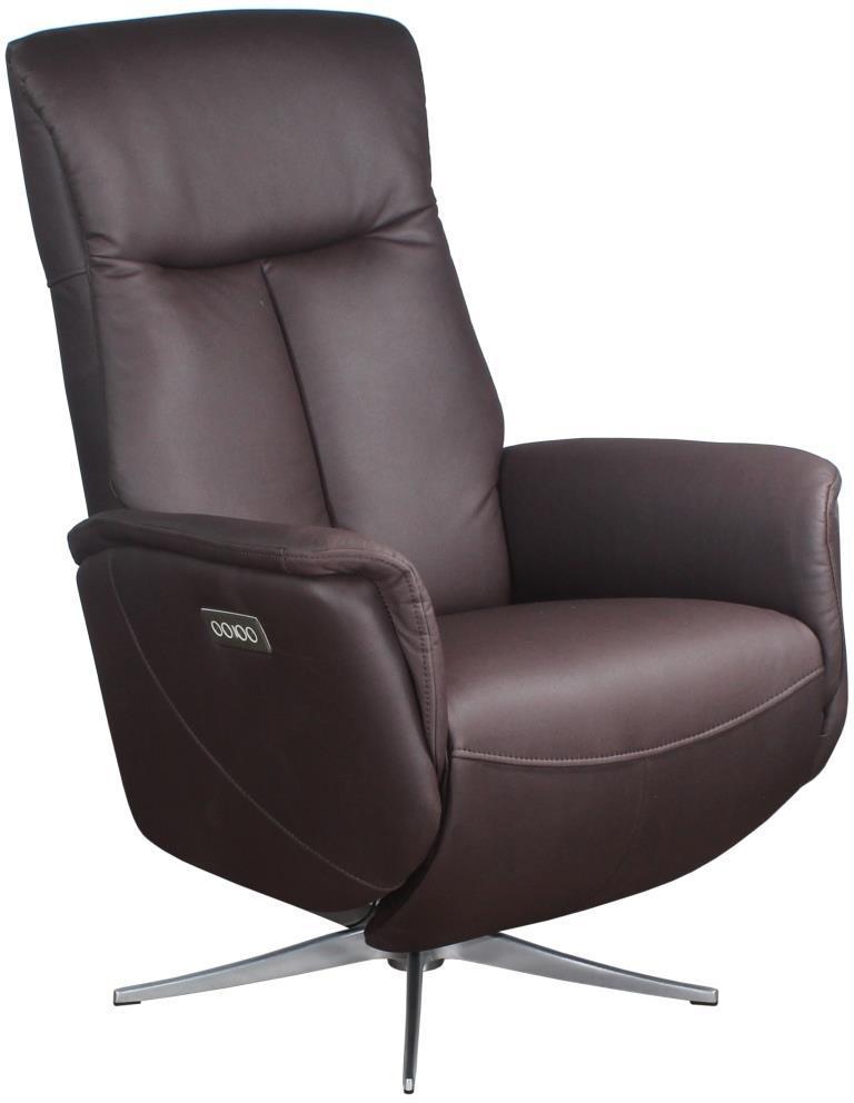 Кресло электро-реклайнер DM-01005 ткань темно-коричневый TM Bellini