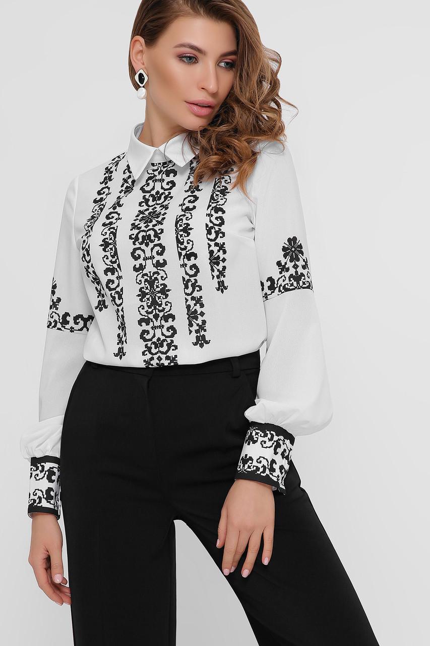 Дизайнерская женская блузка с узором в фольклорном стиле, размер S-L вышиванка