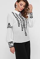 Дизайнерская женская блузка с узором в фольклорном стиле, размер S-L вышиванка, фото 2