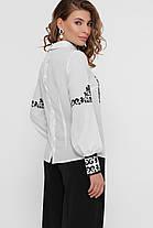 Дизайнерская женская блузка с узором в фольклорном стиле, размер S-L вышиванка, фото 3