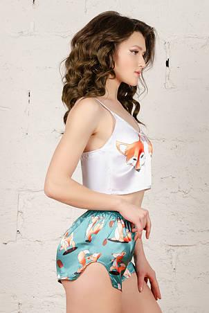Шелковая пижама  с лисичками   001, фото 2