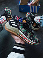 Кроссовки Adidas x Bape Dame 4 Camo Green Адидас х Бэйп
