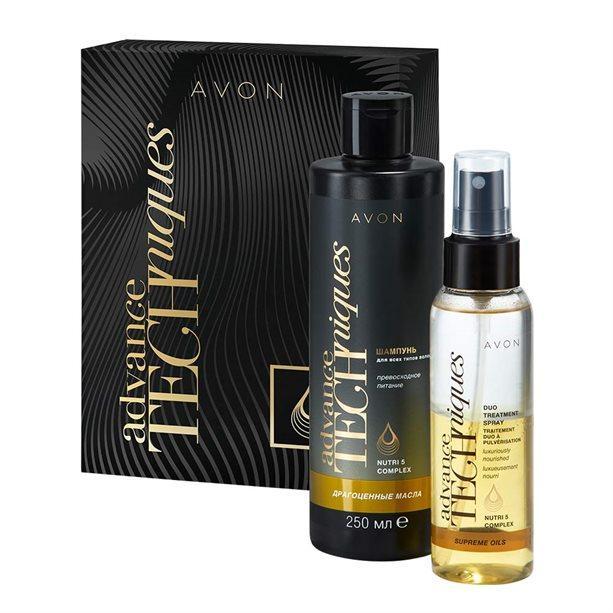 Набір засобів для догляду за волоссям Avon «Дорогоцінні масла», 1346825