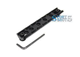Планка Пикатинни 21 мм довжина 115мм з системою кріплення key-mod