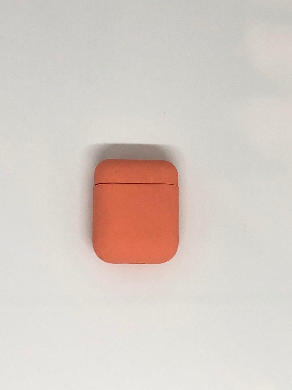 """Чохли для AirPods - """"Яскраво-оранжевий №42"""", силіконові"""