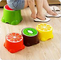 Стул детский круглый в виде фруктов ( Пластиковый стульчик)