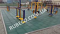 Резиновое напольное покрытие для уличных тренажеров. Резиновая плитка 500*500 мм
