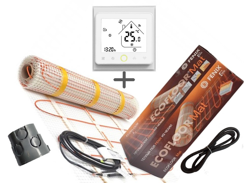Нагревательный мат Fenix LDTS 12130( 0.8 м2 ) с WI-FI thermostat TWE02 ) Премиум ( Р )