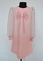 Нарядное детское платье для девочек от 4 до 14 лет пудра