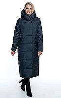 Плащ пальто демисезонный женский «Арабеска» (Синий, черный, марсала | 46, 48, 50, 52, 54, 56)