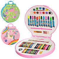Набор для творчества, карандаши, фломастеры, мелки, акварельные краски, точилка, 2 вида, MK2111-1