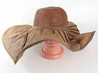Соломенная шляпа Лен 57 см коричневая